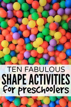 Whether your preschooler already knows her shapes, or she's still struggling to remember the difference between a square and a rectangle, these shape activities are perfect boredom busters for long days at home!