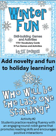 Nine Engaging, Fun, And Interactive Learning Games For The Winter Season  And 175+