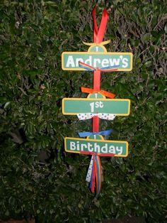 Elmo  Sesame Street Birthday Party Sign by maniandme, $14.00