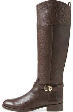 Free shipping and returns on Tory Burch 'Marlene' Leather Riding Boot at Nordstrom.com. The perennially chic riding boot steps out in textured leather with logo details at the ankle and cuff for a signature finish. An essential wardrobe piece.Known for rich color, bold prints and clean, graphic lines, Tory Burch designs have been making a splash since the brand debuted in 2004—always embodying the designer's own inimitable style and sensibility.