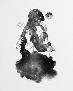 Digital designer and illustrator Muhammed Salah. Muhammed Salah is a 27 years old artist, illustrator, art director, digital designer and graphic designer. Hug Illustration, Illustrations, Drawing Sketches, Art Drawings, Ghost Drawings, Muhammed Salah, Cute Couple Art, Art Sketchbook, Love Art