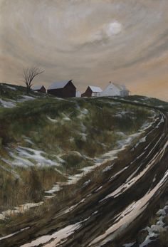 """""""Moving Day"""" by John Dean,  Acrylic on stretched canvas,  40"""" x 28"""""""