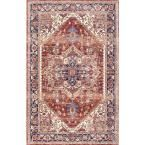 Vintage Yadira Medallion Rust (Red) 7 ft. 6 in. x 9 ft. 6 in. Area Rug