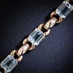 Retro Aquamarine Bracelet