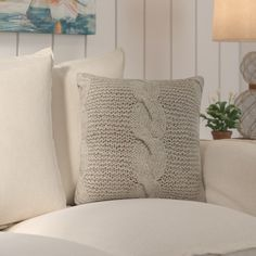 Found it at Wayfair - Loganville Cable Knit Throw Pillow