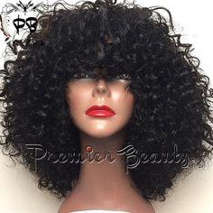 Freeshipping human hair wig curly human hair by PREMIERBEAUTY