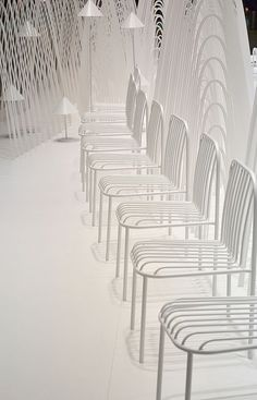 Nendo chairs Stkhlm Fair Nendo Design, Shades Of White, Lamp Light, Triangle, Chairs, Lounge, Display, Ant, Exhibitions