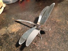 fun with welding: 4 knives + 2 forks = 1 dragonfly