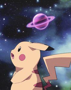 Parece   que  Pikachu  esta   curioso   ;mas  e  fofo                                                   …