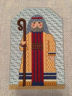 carol dupree needlepoint nativity shepherd