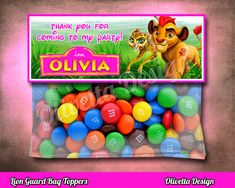 Lion Guard Favor Bag Toppers BIRTHDAY party Printable, Lion Guard, Lion Guar Favor - Personalized - Digital File