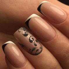 Gorgeous Nails, Pretty Nails, Acrylic Nail Designs, Nail Art Designs, French Manicure Nails, Bride Nails, French Nail Art, Types Of Nails, Toe Nail Art