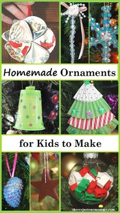 These 25 homemade Christmas ornaments for kids are fun and easy to make. If you're looking for kids Christmas crafts, these ornaments kids can make are perfect. Homemade Christmas Gifts, Christmas Crafts For Kids, Christmas Activities, Diy Christmas Ornaments, Christmas Projects, Kids Christmas, Handmade Christmas, Holiday Crafts, Christmas Decorations