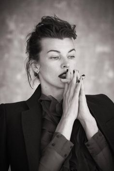 Milla Jovovich, photographed by Matthew Brookes for L'Express Styles magazine, 2013.