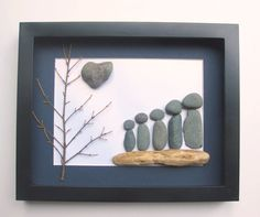 Personalized Family Gift and Original Art Work by SticksnStone, $55.00