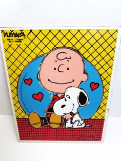 Charlie Brown and Snoopy Peanuts Playskool Wood by TimelessToyBox