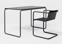 Pipe table and chair, 2009, by Konstantin Grcic. Photography by Florian Böhm.
