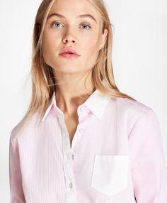 Striped Cotton Poplin Fun Shirt - BB AU Ecommerce