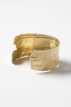 Golden Birch Cuff - Anthropologie.com