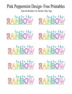 Cute and easy DIY St. Patrick's Day treat with a free printable tag.  Great for rainbow birthday parties too.  Makes a cute party favor.