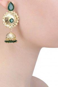 ZEVAR BY GEETA  Gold Plated Jhumki Earrings