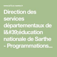 Direction des services départementaux de l'éducation nationale de Sarthe - Programmations acculturation-compréhension 2013-2014