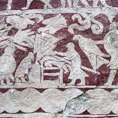 Bildstein aus Hammars auf Gotland mit borromäischem Knoten