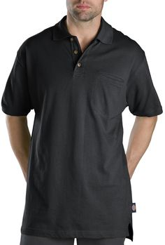 a589f31f Dickies Men's Big Short-Sleeve Mini-Pique Polo Shirt: Wicks moisture to  help keep you cooler and dry