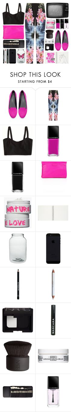 """TouchOfPink."" by mhurtiz ❤ liked on Polyvore featuring Zara, STELLA McCARTNEY, American Eagle Outfitters, Illamasqua, Marc by Marc Jacobs, Nature Girl, Williams-Sonoma, Givenchy, shu uemura and NARS Cosmetics"