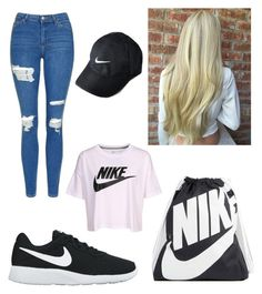 """""""Nike 👟✔️"""" by tanjasngr ❤ liked on Polyvore featuring NIKE and Topshop"""