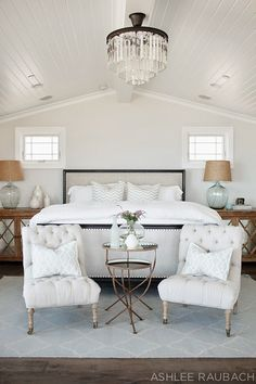 Beach House with Neutral Color Palette: Master Bedroom