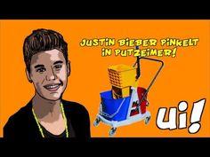 Justin Bieber pinkelt in Putzeimer, ui!