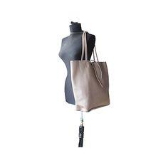 Tania Italian Taupe Leather Shopper Bag - £49.99 Leather Hobo Bags, Leather Shoulder Bag, Shoulder Bags, Shopper Bag, Tote Bag, Taupe, Beige, Italian Women, Italian Leather