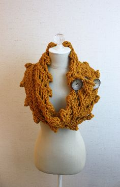 Knitting Pattern / Cowl Wrap Chunky Oversized / by phydeauxdesigns