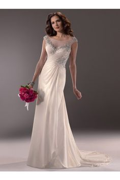Maggie Sottero Wedding Dresses - Style Maria 3MT762 - A Line Wedding Dresses - Wedding Dresses 2014 New - Wedding Apparel on sale at reasonable prices, buy cheap Maggie Sottero Wedding Dresses - Style Maria 3MT762 - A Line Wedding Dresses - Wedding Dresses 2014 New - Wedding Apparel at www.simondress.com now!