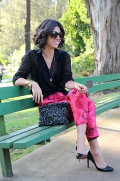 Look We Love: Hot Pink Trousers - Lily And The Lady, Online Boetiek