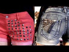 DIY Studded Shorts! 2 Styles Do It Yourself Studded Jean Shorts