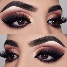 Amazing Wedding Makeup Tips – Makeup Design Ideas Almond Eye Makeup, Almond Eyes, Gold Eye Makeup, Eye Makeup Tips, Makeup For Brown Eyes, Makeup Goals, Makeup Ideas, Makeup Inspo, Cat Makeup