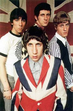 The Who - from left to right: Keith Moon, Pete Townshend, John Entwistle, Roger Daltrey