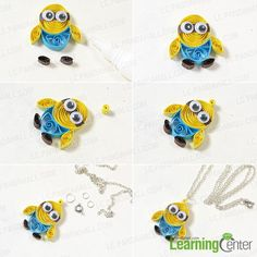 Wanna make necklace for kids? If yes, I promise you can get excited about today's Pandahall tutorial on how to make quilling minion pendant necklace for kids!