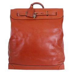 852327584327 Louis Vuitton Fawn Brown Epi Steamer 45 Travel Bag Rare