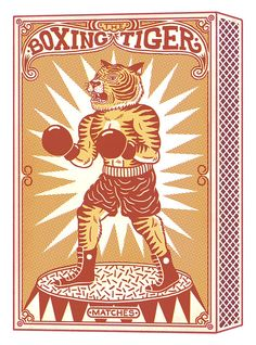 The Boxing Tiger by Bene Rohlmann, via Behance