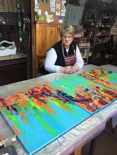 Hecho por Andrea Dalmonte en el taller de Rosita Perosa