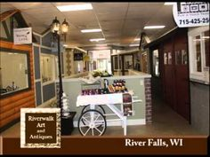 River Falls Wisconsin's Riverwalk Art and Antiques On Our Story's The Ce...