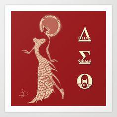 Delta Sigma Theta art by Will Anderson