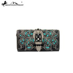 Montana West Buckle Collection Wallet (MW198-W002) – Handbag-Addict.com