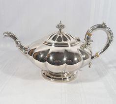 Birks Regency Silver Teapot Tea Pot Footed Melon Shape Style | eBay