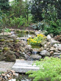 Bestratingen Japanse tuin Natuurlijke vijver met trap Pergola's Schanskorven Strakke moderne stijl met vijver Overige Trap, Stepping Stones, Zen, Outdoor Decor, Flower Pots, Stair Risers