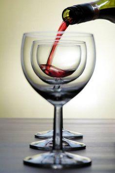 i love the beautiful symmetry. wine photography.