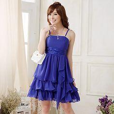 J.K Women's Strap Occidental Style Solid Color Dress – CAD $ 32.15